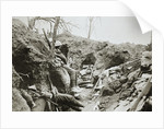 British troops resting in a captured German trench by Anonymous