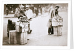 Jobless New Yorkers selling apples on the pavement by Anonymous