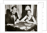 Mr and Mrs Ely Culbertson, American contract bridge players by Anonymous
