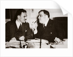 Thomas E Dewey with Fiorello H La Guardia, Mayor of New York by Anonymous
