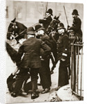 Police arresting a group of hunger marchers in London by Anonymous