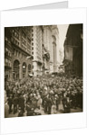 Crowds on Wall Street by Anonymous