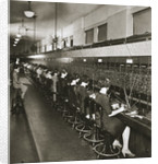 Inside a New York telephone exchange by Anonymous