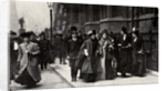 Emmeline Pankhurst, British suffragette leader, carrying a petition by Anonymous