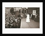 Christabel Pankhurst, British suffragette, addressing a crowd in Trafalgar Square by Anonymous