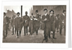 Arrest of Dora Marsden, British suffragette, outside the Victoria University of Manchester by Anonymous