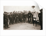 Una Dugdale, British suffragette, campaigning at the Newcastle by-election by Anonymous