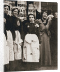 Ada Flatman, British suffragette, at a demonstration she organised in Liverpool by Anonymous