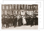 Spectators gather on Portland Place to watch the Women's Sunday procession by Anonymous