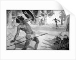 Byama threw a spear with all his strength by Raymond Wenban