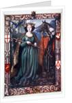 Morgan le Fay with Excalibur by Dora Curtis
