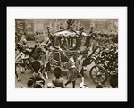 King Edward VII and Queen Alexandra on their way to the State Opening of Parliament by Anonymous