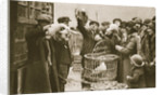 Buying live poultry at a 'Pedlars' Market' at the Caledonian Market by Anonymous