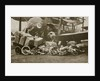 Loading Vickers-Vimy aircraft 'City of London' with motorbike frames for Cologne by Anonymous