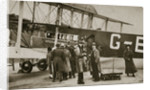 Passengers boarding an Imperial Airways aircraft for a flight to Paris by Anonymous