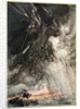Raging, Wotan Rides to the Rock! Like a Storm-wind he comes! by Arthur Rackham