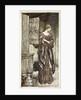 Sieglinde prepares Hunding's draught for the night by Arthur Rackham