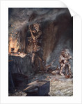 The forging of Nothung by Arthur Rackham