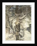 The hot blood burns like fire! by Arthur Rackham