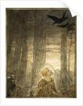 Siegfried's death by Arthur Rackham