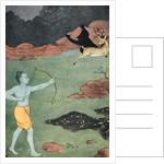 The death of Maricha by K Venkatappa