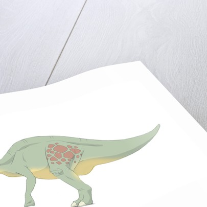 Parasaurolophus pencil drawing with digital color. by Alice Turner