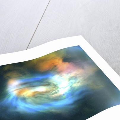 Cosmic space image of the universe. by Corey Ford