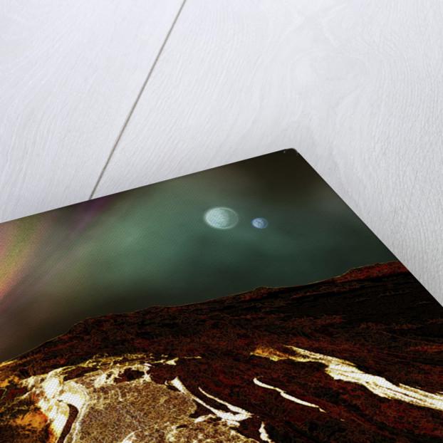 Cosmic landscape of an alien planet. by Corey Ford