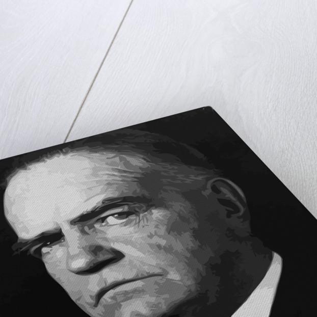 Digitally restored vector portrait of Naval officer William Frederick Halsey, Jr. by John Parrot