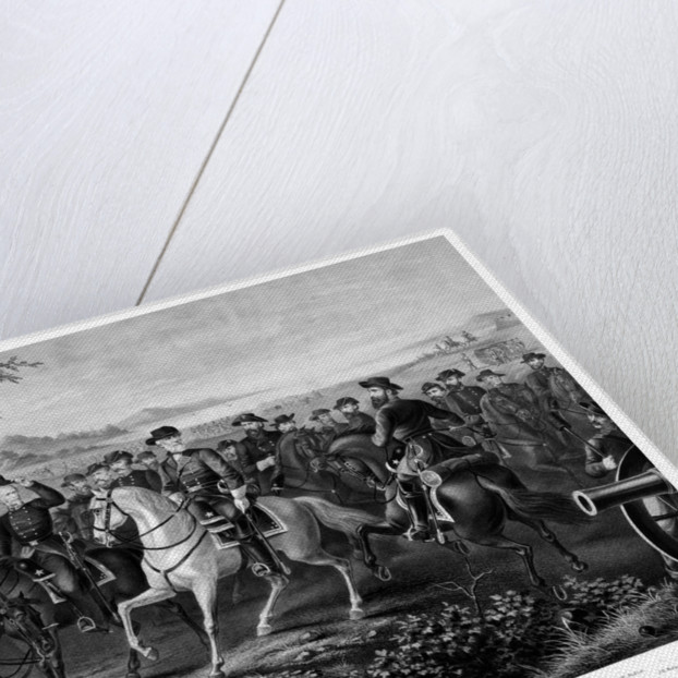 Digitally restored Civil War print of General Lee and other Confederate Generals. by John Parrot