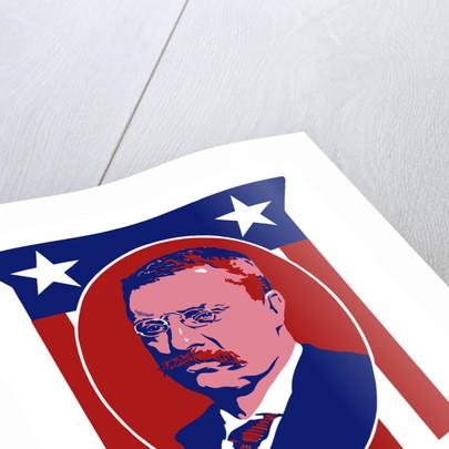 Digitally restored vector poster of President Theodore Roosevelt. by John Parrot