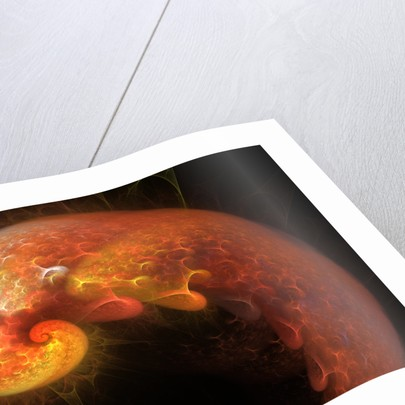 Artist's concept of a developing alien life form. by Mark Stevenson