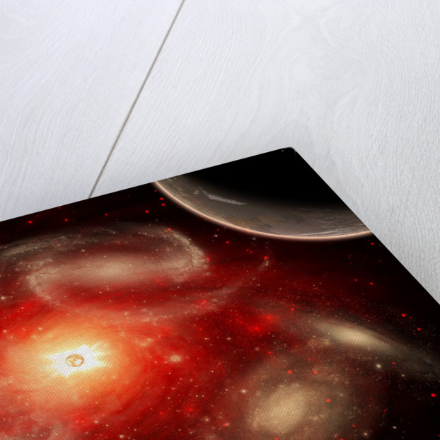 A conceptual view of part of our vast universe. by Mark Stevenson