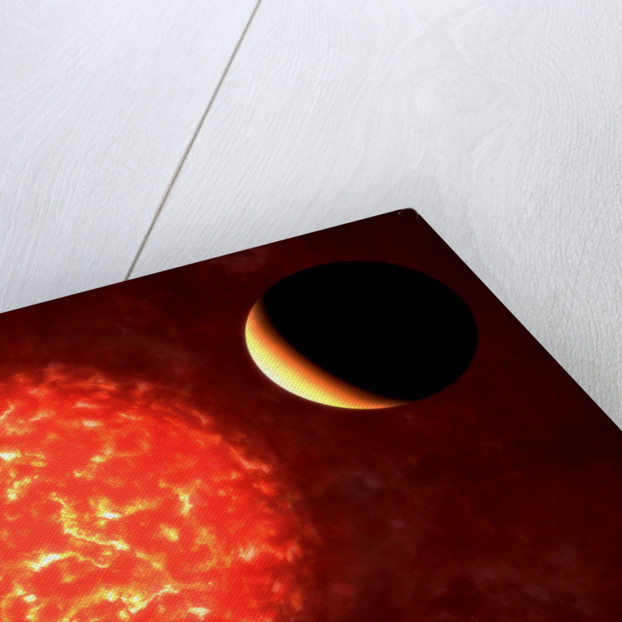 View from Neptune if our Sun were replaced by VY Canis Majoris. by Rhys Taylor