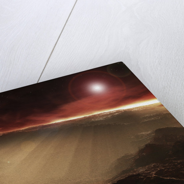 The sun rises over Gale Crater, Mars. by Steven Hobbs