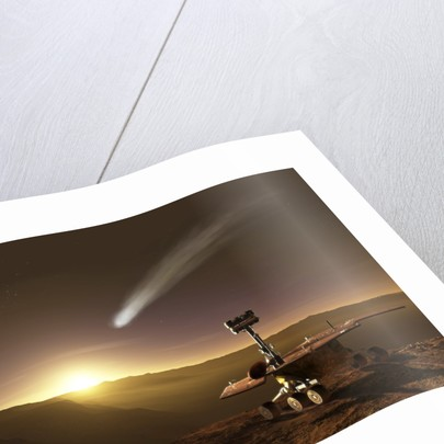 Comet over Endeavour Crater by Steven Hobbs
