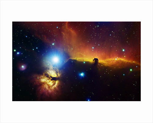 Alnitak region in Orion with Flame Nebula (NGC 2024), and Horsehead Nebula. by Filipe Alves