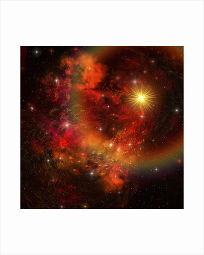 A star explodes sending out shock waves throughout the universe. by Corey Ford