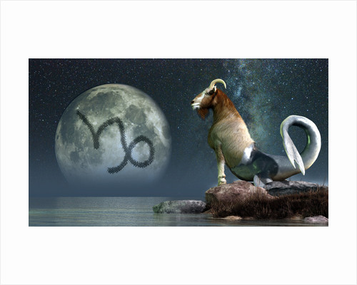 Capricorn is the tenth astrological sign of the Zodiac. by Daniel Eskridge