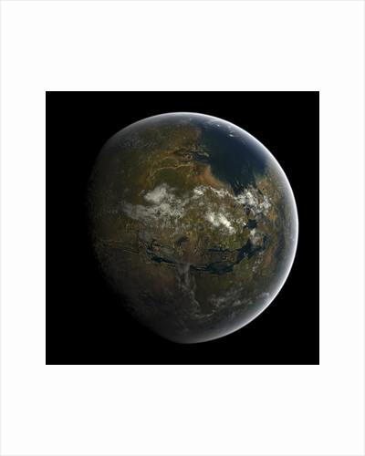 Artist's concept of a terraformed Mars. by Frieso Hoevelkamp