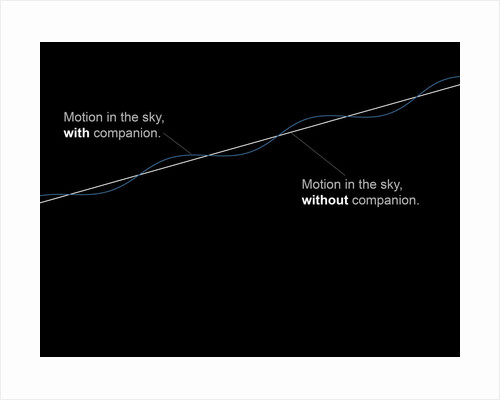 Comparison diagram showing the motion of stars with and without a companion. by Fahad Sulehria