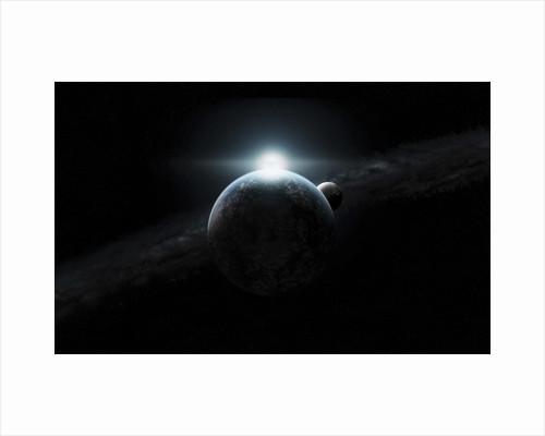 Dawn breaks on an alien planet. by Justin Kelly