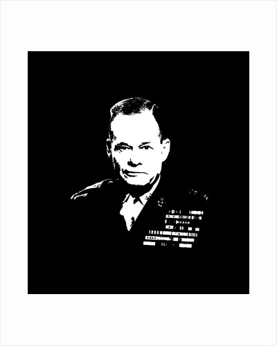Vector artwork of Lieutenant General Lewis Burwell Chesty Puller. by John Parrot