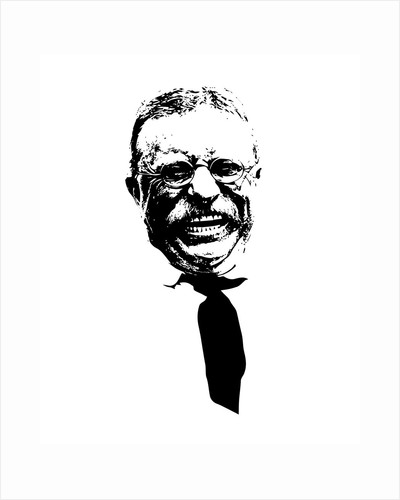 Vector artwork of Theodore Roosevelt smiling. by John Parrot