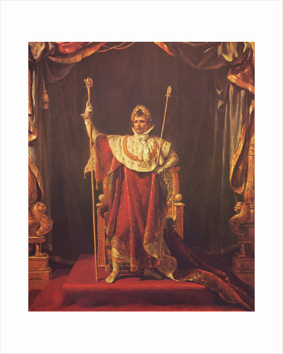 Digitally restored vector painting of Napoleon Bonaparte. by John Parrot