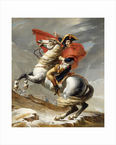 Digitally restored vector painting of Napoleon Bonaparte on his horse. by John Parrot