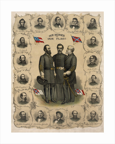 Digitally restored print of the Confederate Commanders of The American Civil War. by John Parrot
