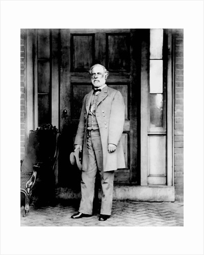 Digitally restored vector photo of General Robert E. Lee standing. by John Parrot
