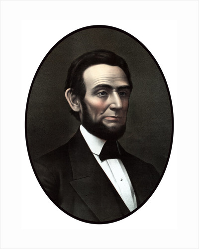 Digitally restored vintage Civil War era artwork of President Abraham Lincoln. by John Parrot