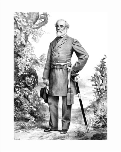 Digitally restored Civil War artwork of General Robert E. Lee. by John Parrot